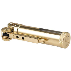Classic Design Antique Style Brass Metal Oil Petrol Cigarette Lighter with Fuel Window