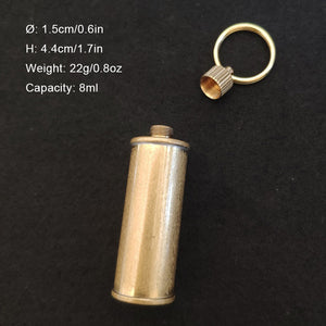 Retro Copper Mini Fuel Canister for lighter camping with Keyring Leak Proof