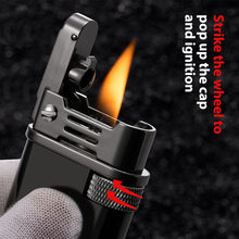 Load image into Gallery viewer, Windproof Automatic Pop Cap Oil Lighter