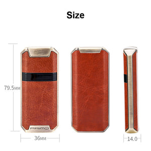Leather Skinned Double Arc Plasma Lighter  - Touch Control