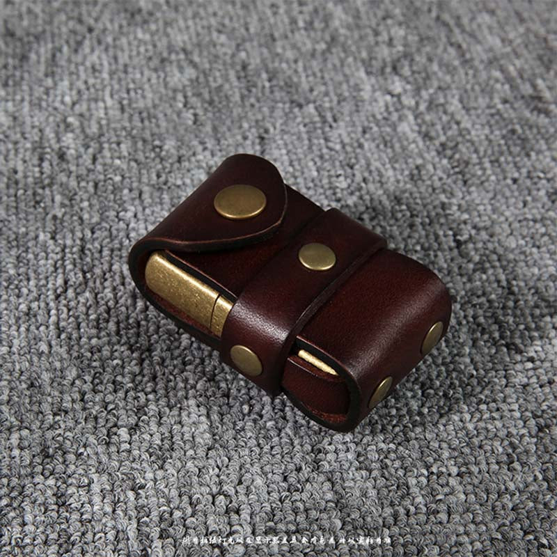 Handmade Genuine Leather Kerosene Lighter Case