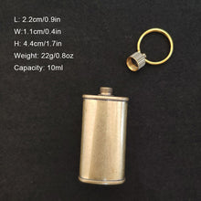 Load image into Gallery viewer, Retro Copper Mini Fuel Canister for lighter camping with Keyring Leak Proof