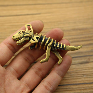 EDC Brass Dinosaur Skeleton Pendant Car Key Pendant Bag Pendant