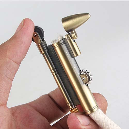 WW2 Flameless Rope Lighter with Bullet Cab and Rope adjust wheel
