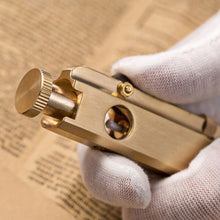 Load image into Gallery viewer, Vintage Trentch Lighter Brass kerosene lighter Block Lighter