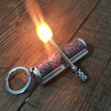 Load image into Gallery viewer, Luxury Mini Permanent Match Lighter With Leather Cover
