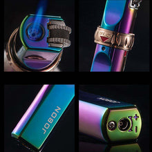 Load image into Gallery viewer, Windproof Torch Lighter With Flint Ignition Metal Butane Gas Lighter With Safety Wheel