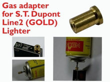 Load image into Gallery viewer, 2pcs Gas Refill Adapters for ST Dupont lighter Line 1/2 Gold/Yellow Cap