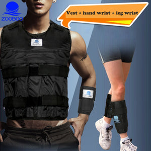 Weighted Vest Durable Adjustable Boxing Training Thickening Exercise Waistcoat Fitness Sand Clothing + Weight Leg + Weight Wrist