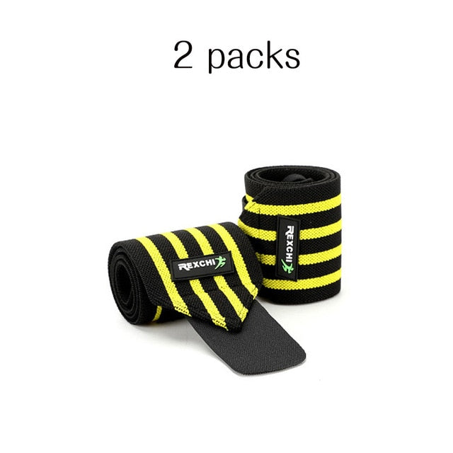 REXCHI Gym Fitness Weightlifting Bracers Powerlifting Wristband Support Elastic Wrist Wraps Bandages Brace for Sports Safety
