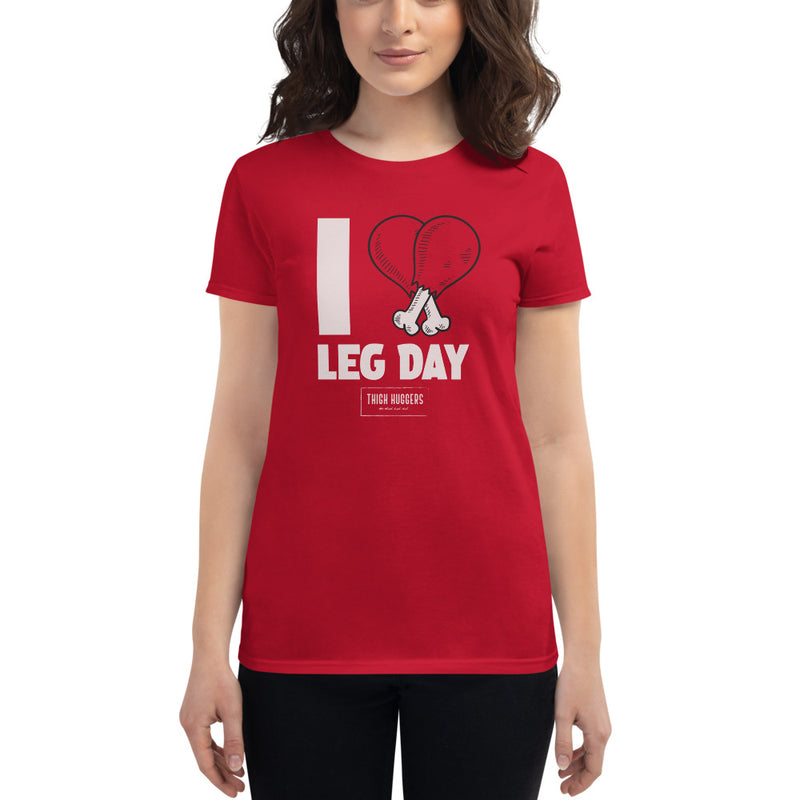 Women's I Heart Leg Day T-shirt