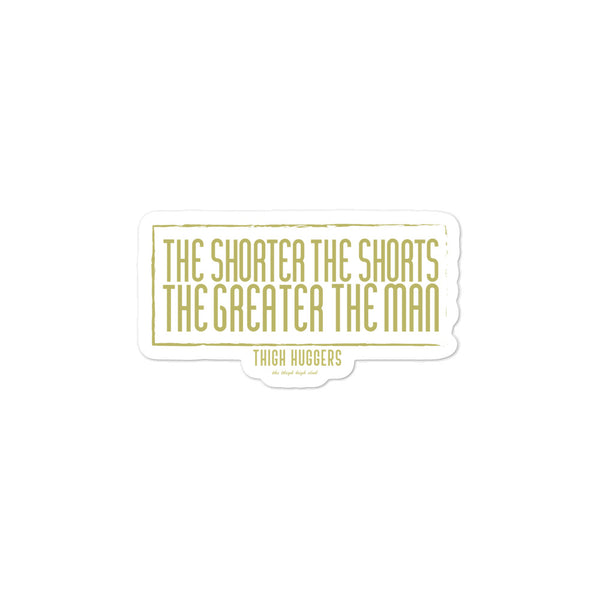 Greater the Man Bubble-free stickers
