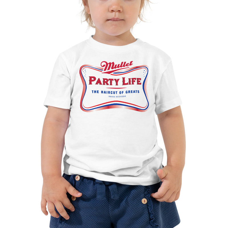 Mullet Party Toddler Short Sleeve Tee