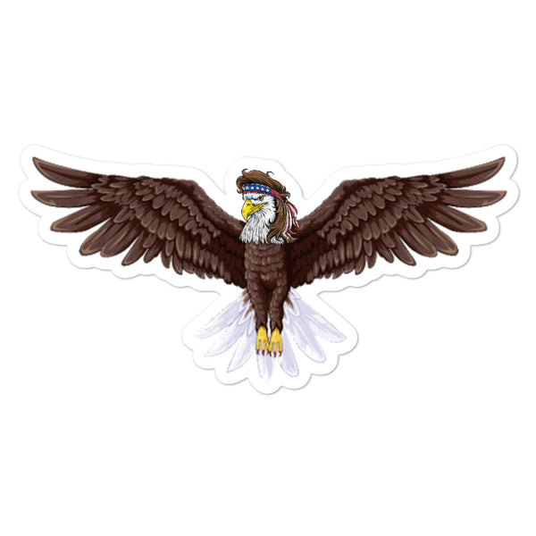 Mullet Eagle Bubble-free stickers