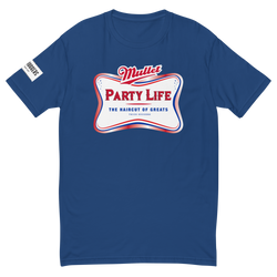 Colored Mullet Party Life Short Sleeve T-shirt