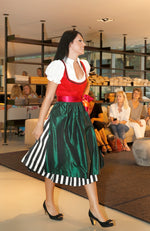 Dirndl Classic Black and White in red