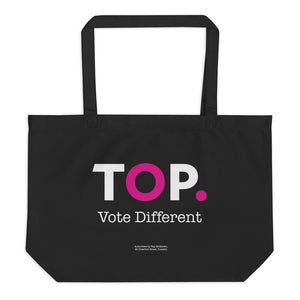 TOP #VOTEDIFFERENT Pink –  Large organic tote bag