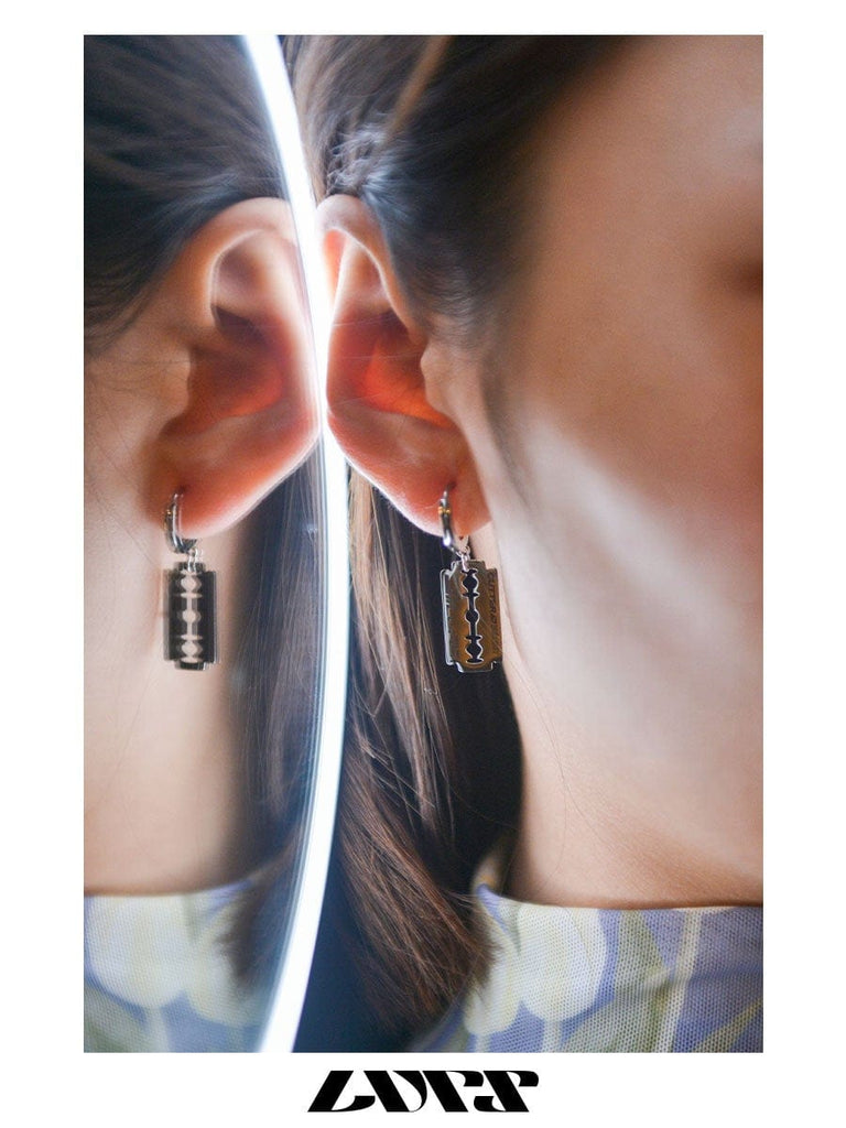 LURS Shaving Blade Earring, asian fashion designer clothing, PROJECTISR, Accessories, LURS