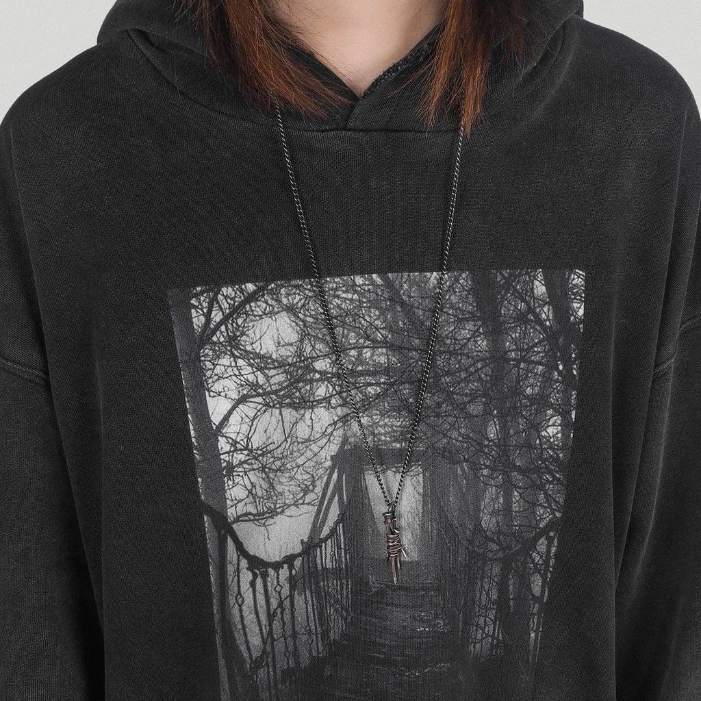 UNDERWATER Forest Bridge Hoodie, asian fashion designer clothing, PROJECTISR, Hoodie, UNDERWATER