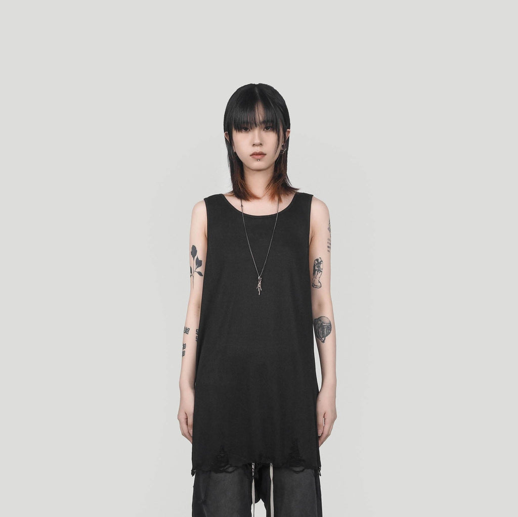 UNDERWATER Rotten Tank Top Black - PROJECTISR US