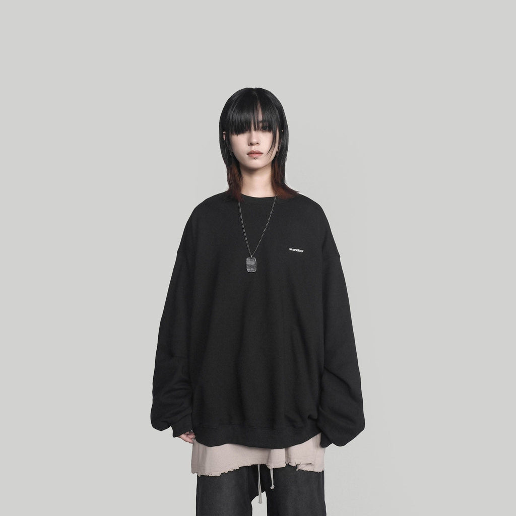 UNDERWATER Portrait Sweatshirt Black, asian fashion designer clothing, PROJECTISR, Sweatshirt, UNDERWATER