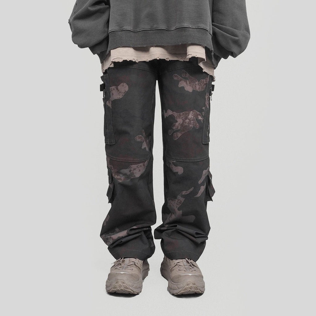 UNDERWATER Utility Pants Camo, asian fashion designer clothing, PROJECTISR, Pants, UNDERWATER