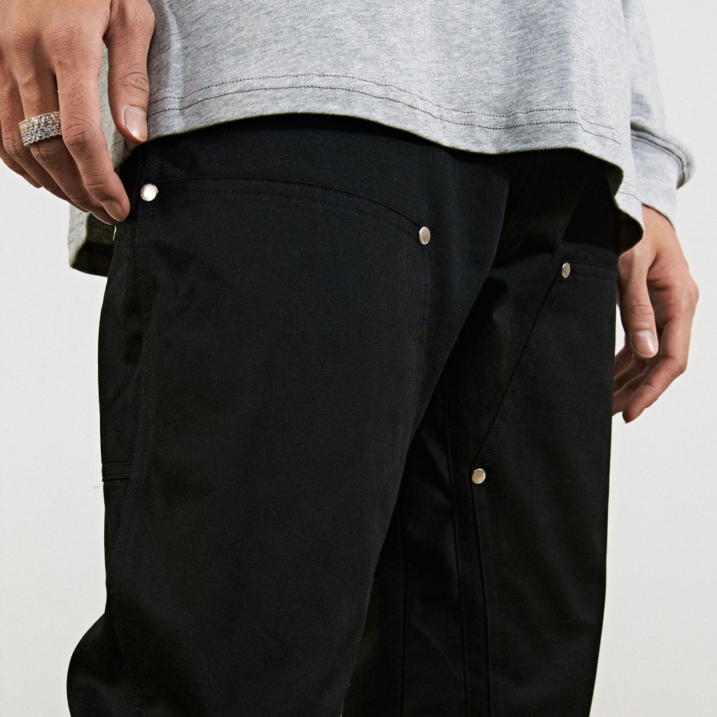 BONELESS Rivet Double-layered Back Zipper Pants - PROJECTISR US