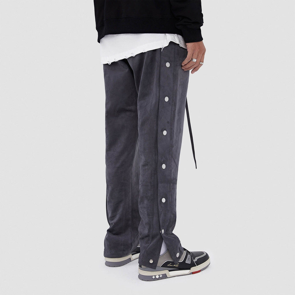 BONELESS Suede Textured Buttoned Pants - PROJECTISR US