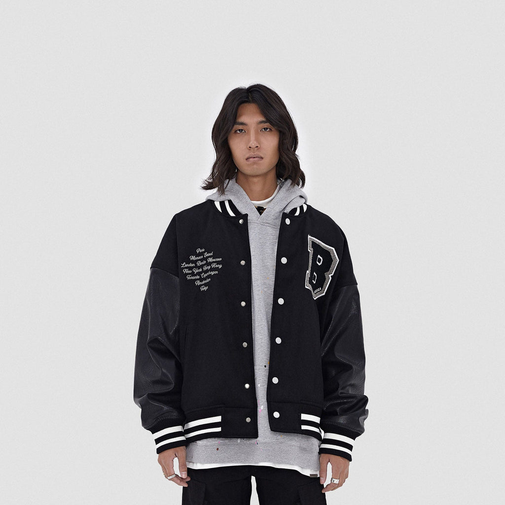 BONELESS Cities Varsity Jacket