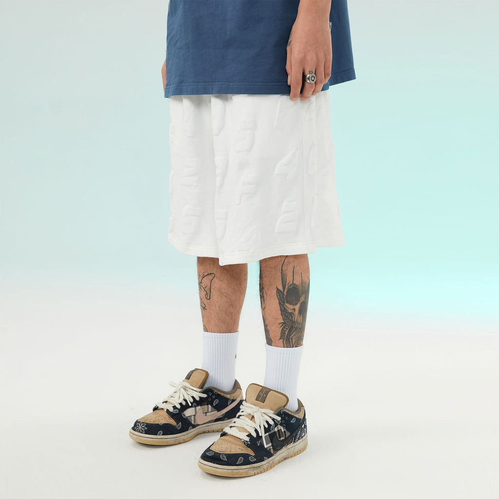 F426 Embossed Letter Shorts - PROJECTISR US