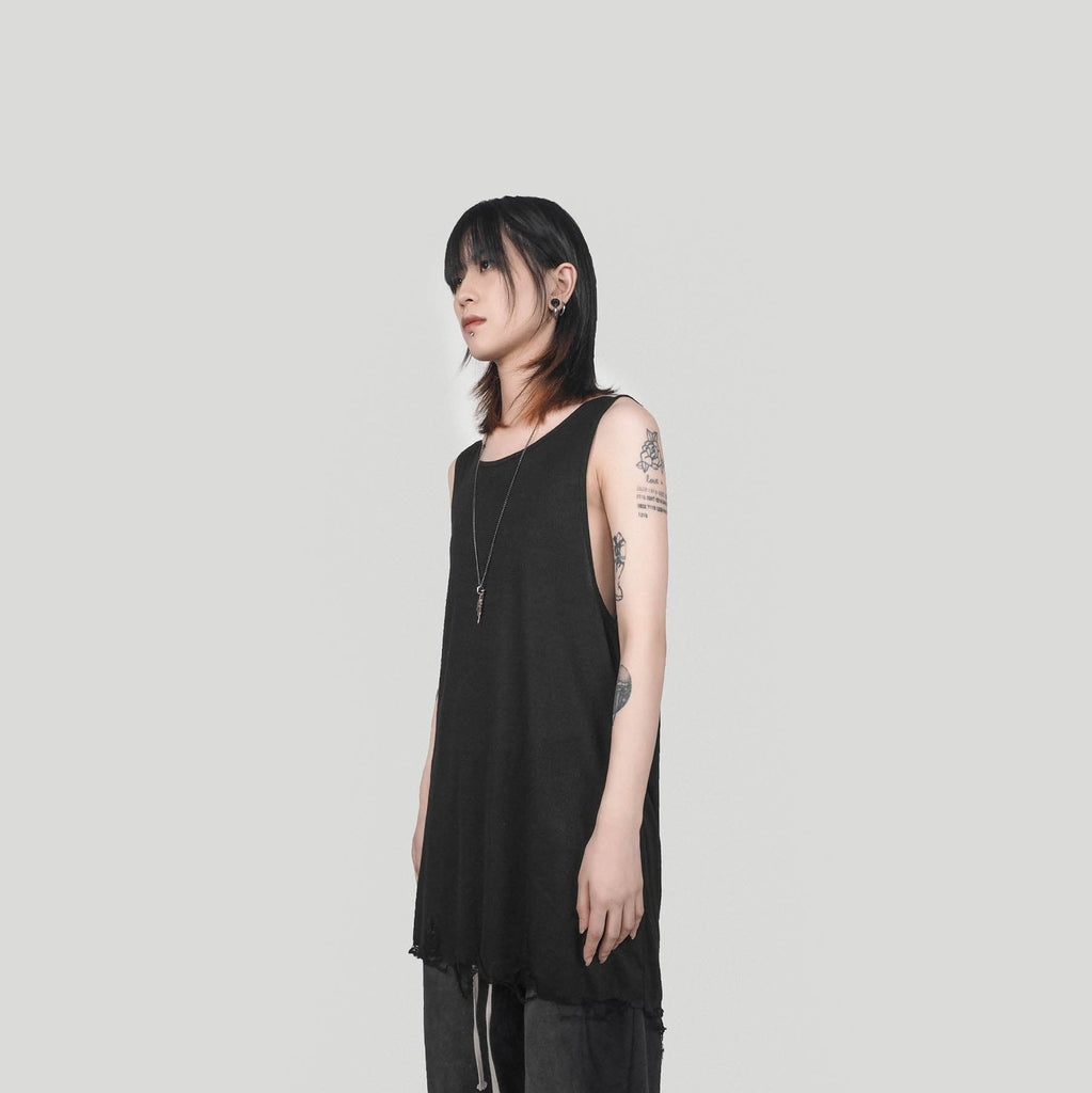 UNDERWATER Rotten Tank Top Black, asian fashion designer clothing, PROJECTISR, T Shirt, UNDERWATER