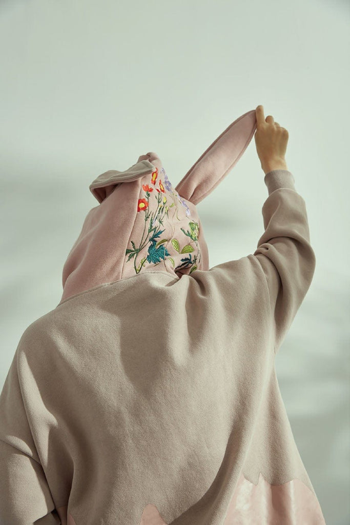 WINDERFLIES Rabbit Floral Hoodie - PROJECTISR US
