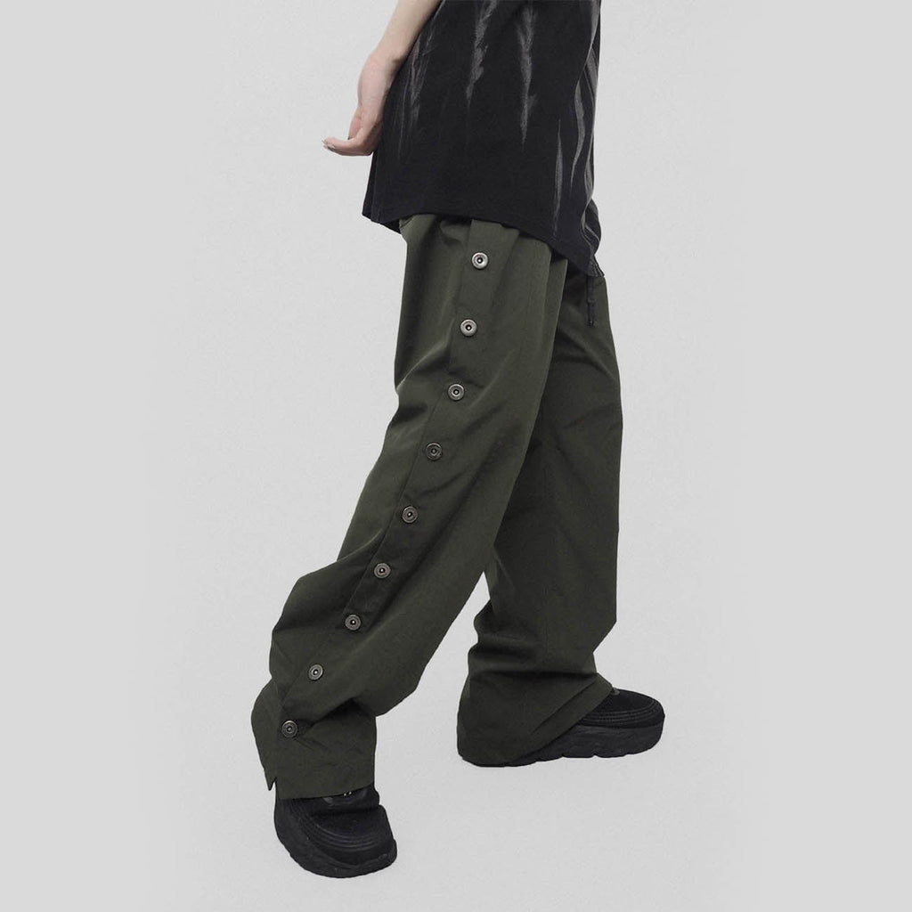 UNDERWATER Buttoned Pants Army Green - PROJECTISR US