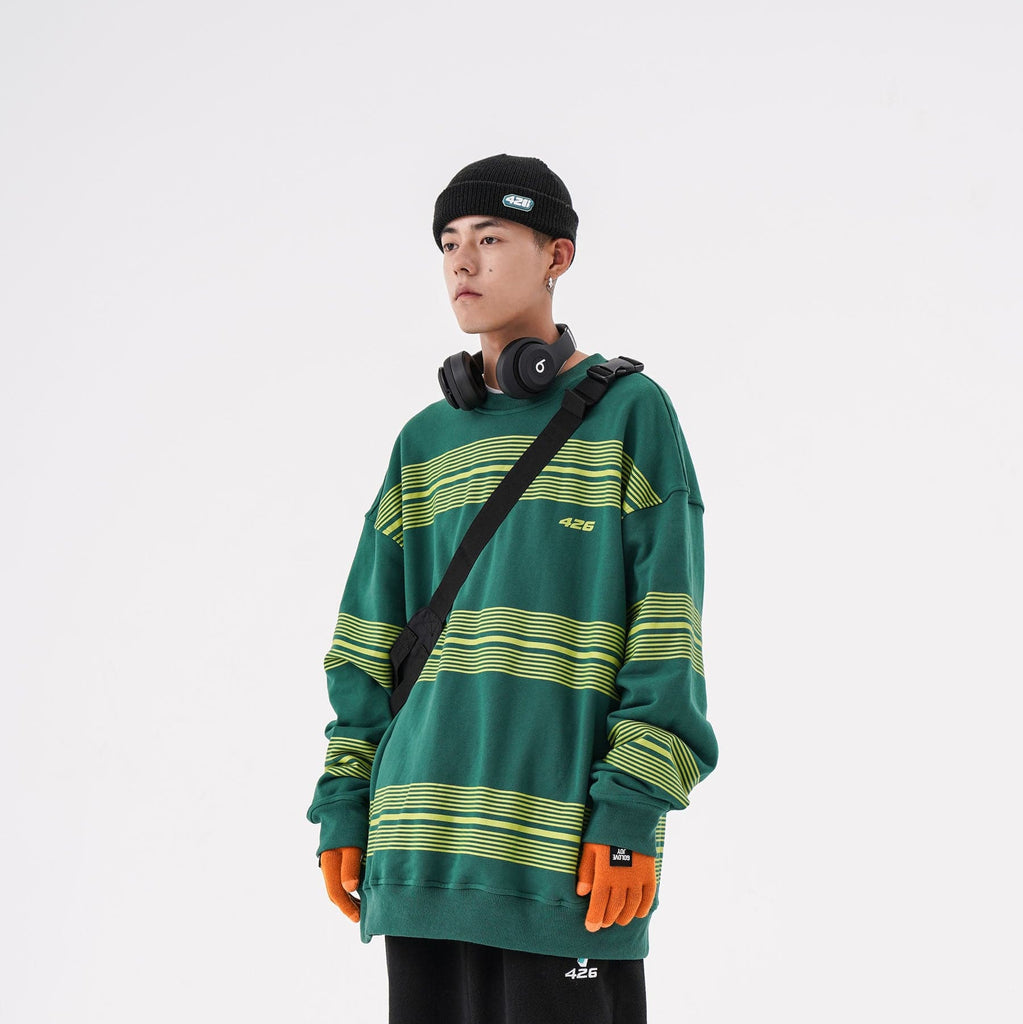 F426 Borderless Stripe Sweatshirt - PROJECTISR US