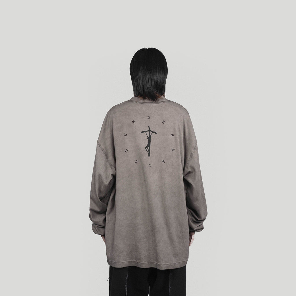 UNDERWATER Crucifix L/S T-shirt, asian fashion designer clothing, PROJECTISR, L/S Tee, UNDERWATER