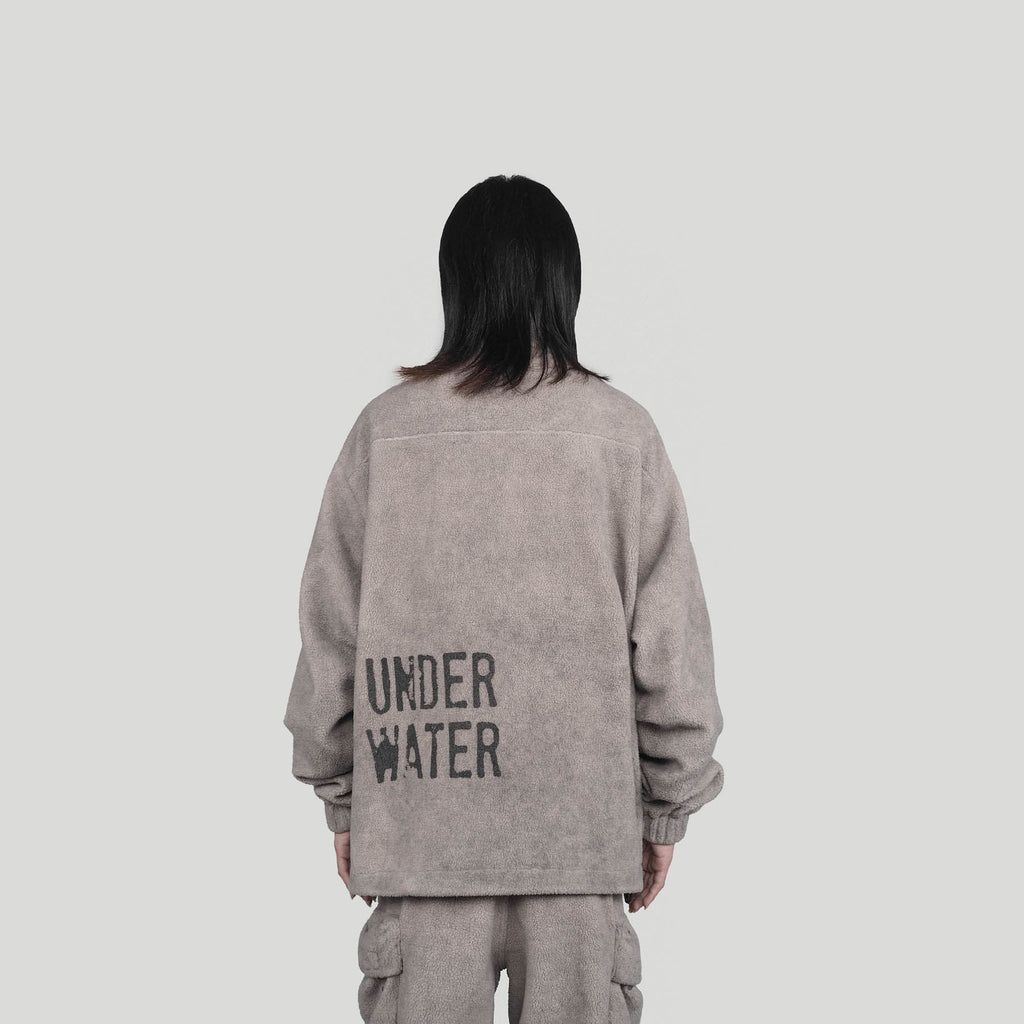 UNDERWATER Utility Fleece Jacket, asian fashion designer clothing, PROJECTISR, Jacket, UNDERWATER