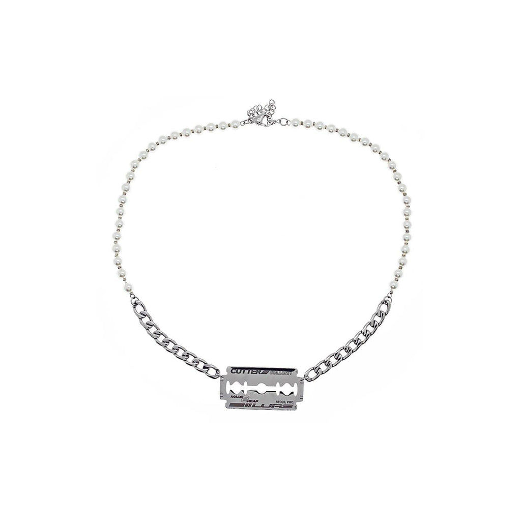 LURS Pearls & Shaving Blade Necklace - PROJECTISR US