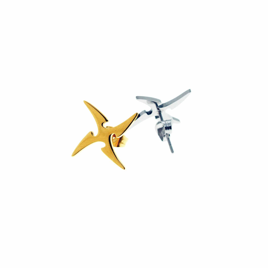 LURS Shuriken Stud Earring (2 Colors), asian fashion designer clothing, PROJECTISR, Accessories, LURS