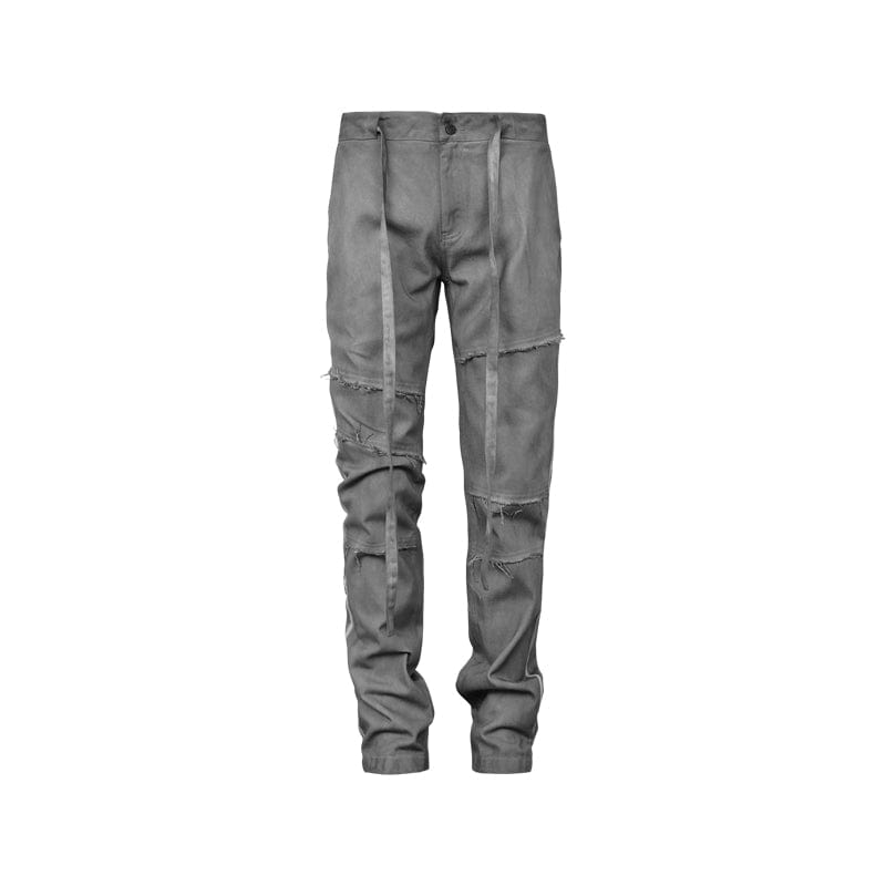 "Underwater Waterwashed ""Dirty"" Jeans Grey, asian fashion designer clothing, PROJECTISR, Pants, UNDERWATER"