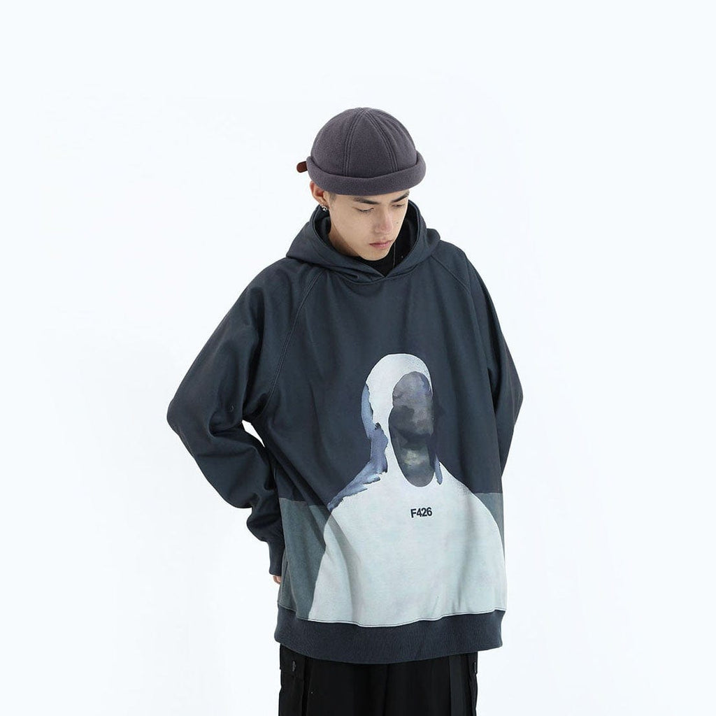 F426 Impressionism Portrait Hoodie, asian fashion designer clothing, PROJECTISR, Hoodie, F426