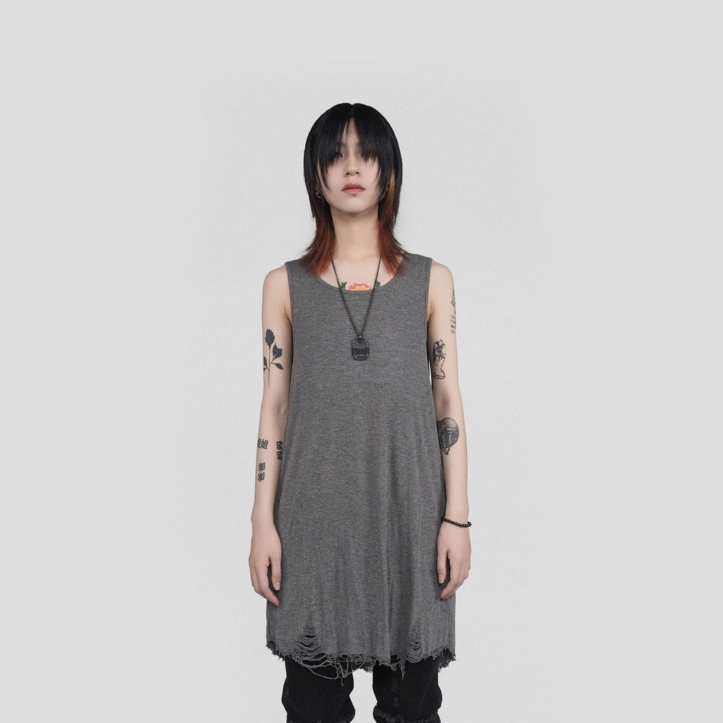 UNDERWATER Rotten Tank Top Grey - PROJECTISR US