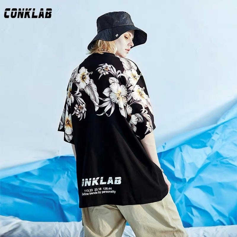 Conklab Rainbow Floral Tee, asian fashion designer clothing, PROJECTISR, T Shirt, Conklab