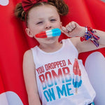 Load image into Gallery viewer, Bomb Pop white tank  in red white and blue