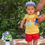 Load image into Gallery viewer, Reach for the sky yellow toy story tee shirt