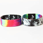 Load image into Gallery viewer, Reversible Monochrome Tie Dye elastic wristband