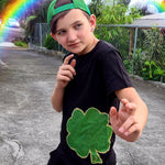 Load image into Gallery viewer, Shamrock St Patricks Day Black and Green tshirt