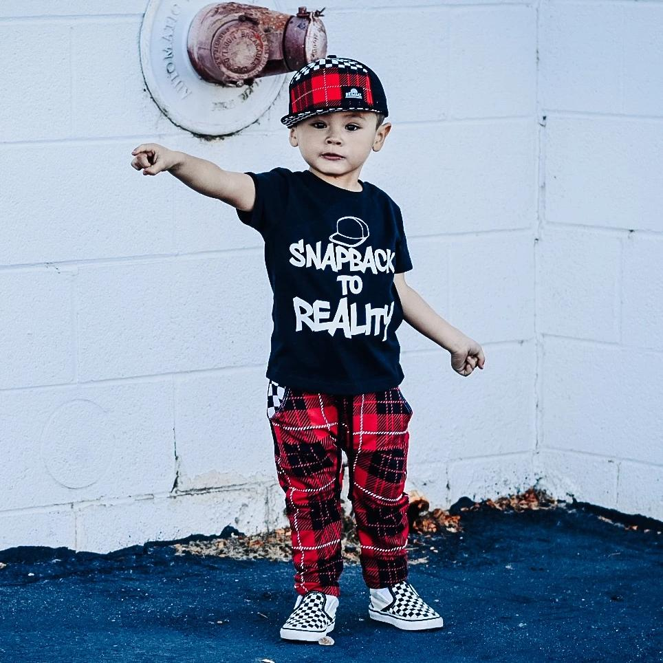 Graphic short-sleeve tee for toddlers with Snapback to Reality on front