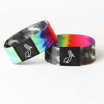 Load image into Gallery viewer, Tie Dye elastic wrist band with monochrome tie dye reversible