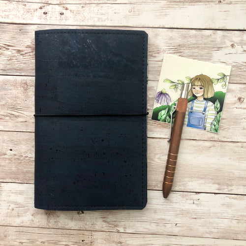Midnight Travelers Notebook (TN) - Cork Cover