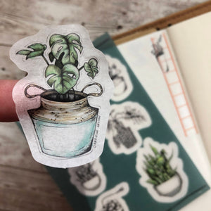 House plants - Washi Sticker Sheet